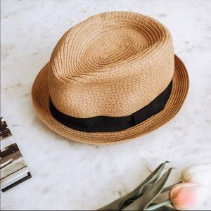 Forever 21 Natural Tan Weave Fedora Hat